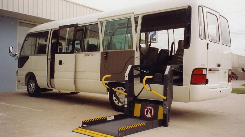 wheelchair lift bus.  Lift Bus Wheelchair Lifts Throughout Lift